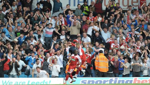 GOAL: Marvin Emnes sends the Boro faithful wild.